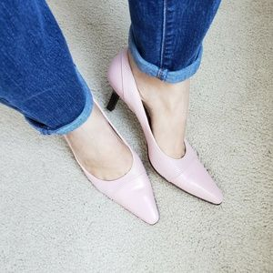 Talbots Womens Size 7 Pink Vintage Heels Italy